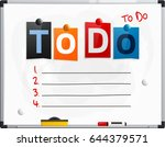 to do text made from newspaper... | Shutterstock .eps vector #644379571