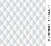 seamless white diamond padded... | Shutterstock .eps vector #644383147
