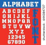 alphabet font template. letters ... | Shutterstock .eps vector #644384737