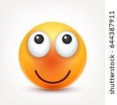smiley smiling emoticon. yellow ... | Shutterstock .eps vector #644387911