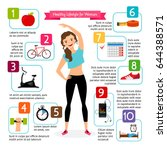 woman healthy lifestyle... | Shutterstock . vector #644388571