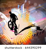 silhouette of bicycle jumper   Shutterstock .eps vector #644390299