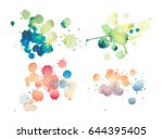 colorful retro vintage abstract ...   Shutterstock . vector #644395405