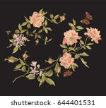 Embroidery Fashion Floral...