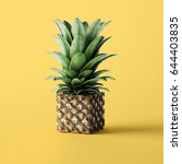 cube pineapple concept | Shutterstock . vector #644403835
