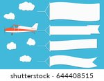 flying advertising banner.... | Shutterstock .eps vector #644408515