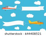 flying advertising banner.... | Shutterstock .eps vector #644408521
