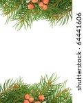 christmas green framework and ... | Shutterstock . vector #64441606