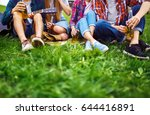 group of friends enjoying party.... | Shutterstock . vector #644416891