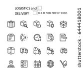 logistics and delivery vector... | Shutterstock .eps vector #644418001