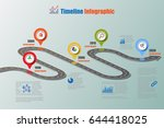 design template  road map... | Shutterstock .eps vector #644418025