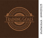 training goals badge with... | Shutterstock .eps vector #644420125