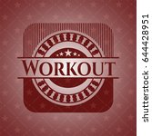 workout badge with red... | Shutterstock .eps vector #644428951
