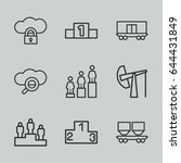 platform icons set. set of 9... | Shutterstock .eps vector #644431849