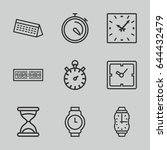time icons set. set of 9 time... | Shutterstock .eps vector #644432479