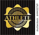 athlete golden badge | Shutterstock .eps vector #644433769