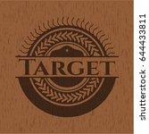 target badge with wooden... | Shutterstock .eps vector #644433811