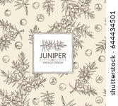background with  juniper ... | Shutterstock .eps vector #644434501