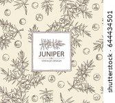 background with  juniper ... | Shutterstock .eps vector #644434501