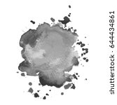 abstract watercolor grayscale... | Shutterstock .eps vector #644434861
