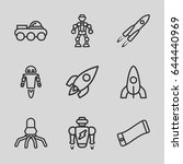 future icons set. set of 9... | Shutterstock .eps vector #644440969