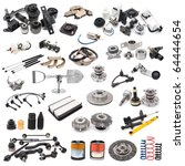 a lot of auto spare parts  over ...   Shutterstock . vector #64444654