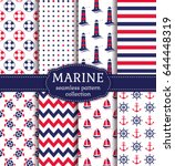 Set Of Marine And Nautical...