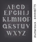 hand drawn vector abc letters | Shutterstock .eps vector #644448775