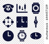 dial icons set. set of 9 dial... | Shutterstock .eps vector #644457109