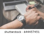 soft focus businessman looking... | Shutterstock . vector #644457451