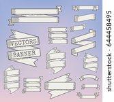 ribbon label bar banner badge... | Shutterstock .eps vector #644458495