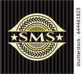 sms gold badge or emblem | Shutterstock .eps vector #644461825