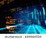 block chain network and... | Shutterstock . vector #644464534