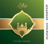 ramadan kareem design... | Shutterstock .eps vector #644469439