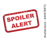 spoiler alert warning sign | Shutterstock .eps vector #644478571