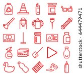 plastic icons set. set of 25... | Shutterstock .eps vector #644479471
