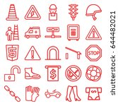safety icons set. set of 25... | Shutterstock .eps vector #644482021