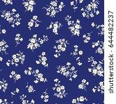 flower illustration pattern | Shutterstock .eps vector #644482237