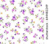 flower illustration pattern | Shutterstock .eps vector #644482249