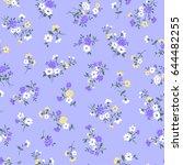flower illustration pattern | Shutterstock .eps vector #644482255