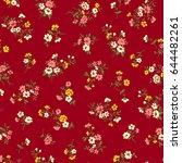 flower illustration pattern | Shutterstock .eps vector #644482261