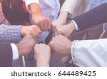 many hand of  business people... | Shutterstock . vector #644489425