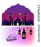 ramadan kareem.beautiful... | Shutterstock .eps vector #644489611
