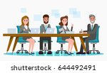 set of business people meeting... | Shutterstock .eps vector #644492491