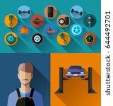 vector illustration of ... | Shutterstock .eps vector #644492701
