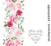 vertical seamless line garland... | Shutterstock .eps vector #644494489