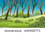nature scene with trees and... | Shutterstock .eps vector #644500771