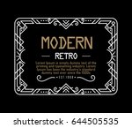 art deco label vintage linear... | Shutterstock .eps vector #644505535