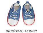 baby shoes isolated on pure... | Shutterstock . vector #6445069