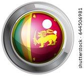 flag of srilanka on round badge ... | Shutterstock .eps vector #644506981